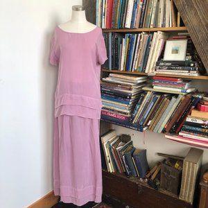 Beautiful Vintage Boho Blouse & Maxi Skirt Set